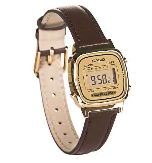 Retro Brown Strap Digital Watch LA670WEGL-9EF