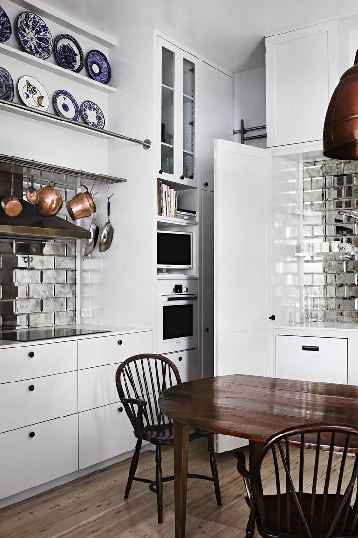 78 best reflections glass mirror beveled back splash wall tile love the silvermirrored subway tiles and the copper accents dailygadgetfo Choice Image