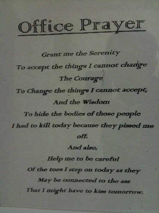 Serenity Prayer Office Remix Funny Pinterest Serenity Prayer Serenity And Love