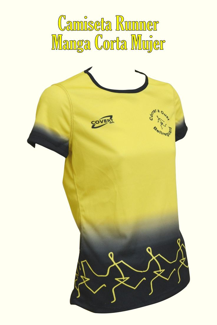 Covert Sport - Ropa Deportiva Personalizada Runner  -  Equipaciones Córrer a Gust - Bellreguard - Camiseta Runner Manga Corta Mujer