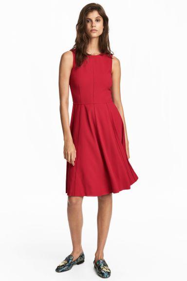 ad373c34e5c570 Mouwloze jurk - Rood - DAMES