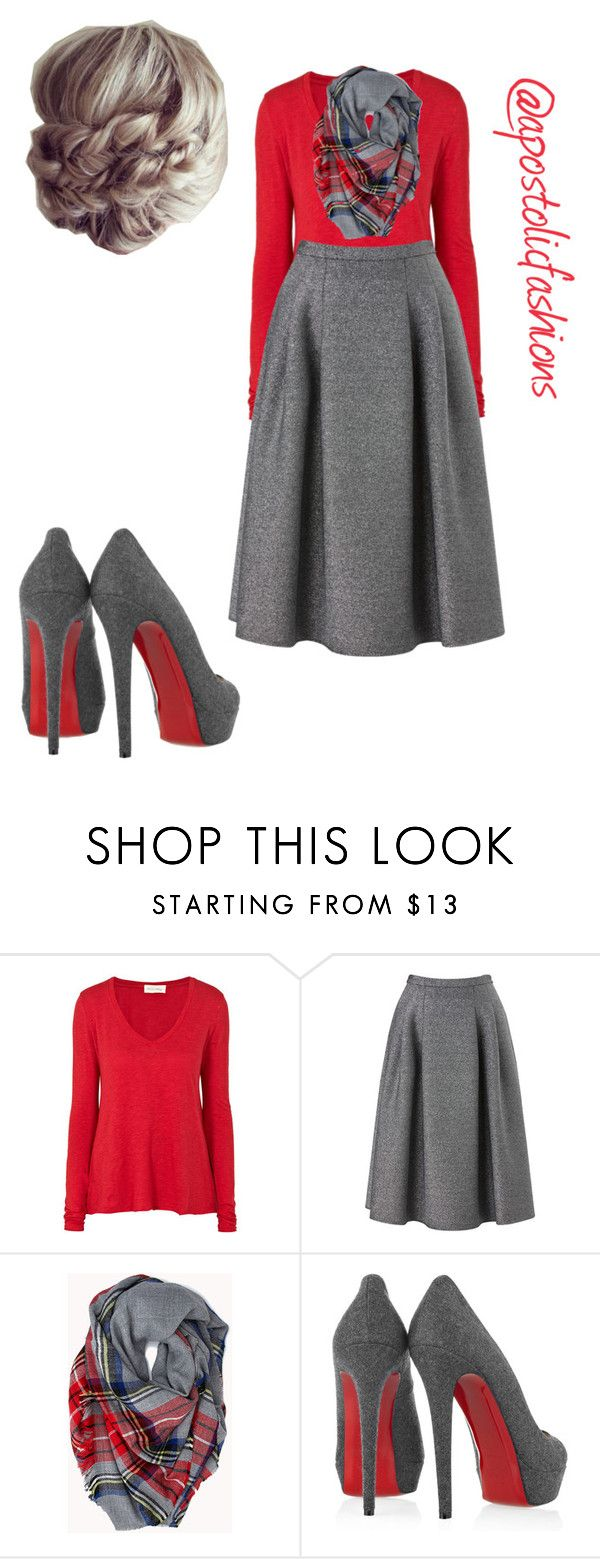 Apostolic Fashions #1002 by apostolicfashions on Polyvore featuring American Vintage, Phase Eight, Christian Louboutin and Forever 21