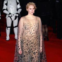 Gwendoline Christie attends the Star Wars: The Last Jedi European Premiere