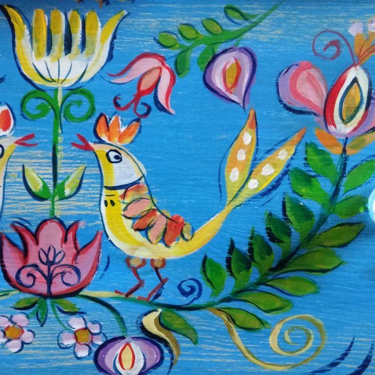 Hungarian painted furniture / Tulipános láda motívum