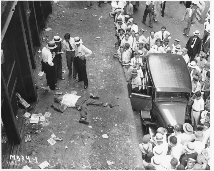 Wall Street suicide. 1929