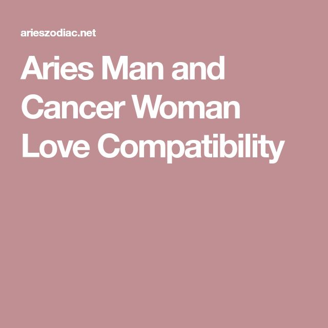 Aries Man and Cancer Woman Love Compatibility