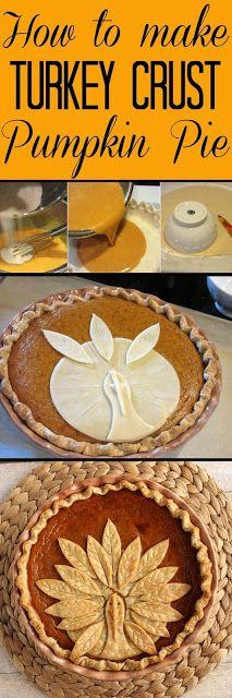 How to make a turkey crust pumpkin pie - so easy!!