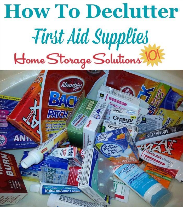 Medicine Disposal & First Aid Supplies Clutter Removal Tips