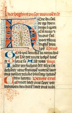 Book of Hours in Dutch, decorated manuscript on vellum [Netherlands (probably Utrecht), c.1460-70]