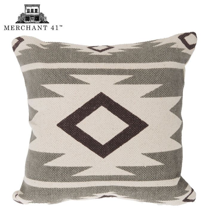 Gray, Brown & Cream Aztec Pillow Cover