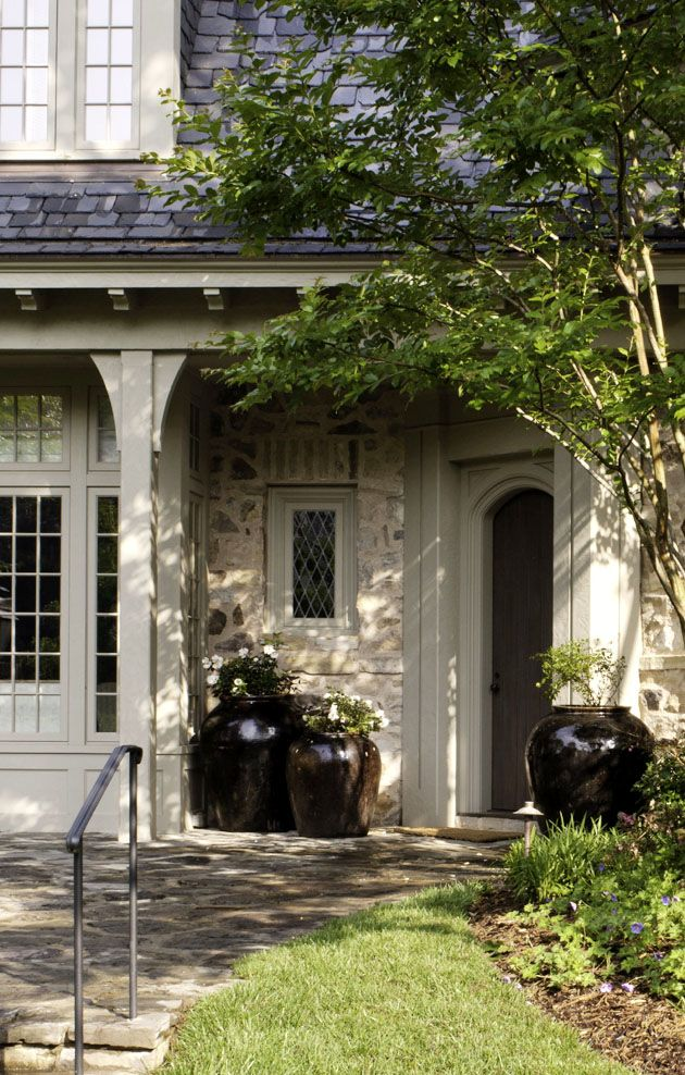 Black And Gray Exterior House In Lakeside Coup De C Ur On Pinterest Topiaries Porches And Black Shutters