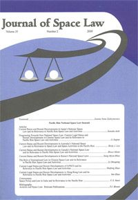 The Journal of Space Law is the world's oldest journal devoted to space law. The University of Mississippi has published the Journal of Space Law since 1973.The National Center for Remote Sensing, Air, and Space Law, has published it since 2003.