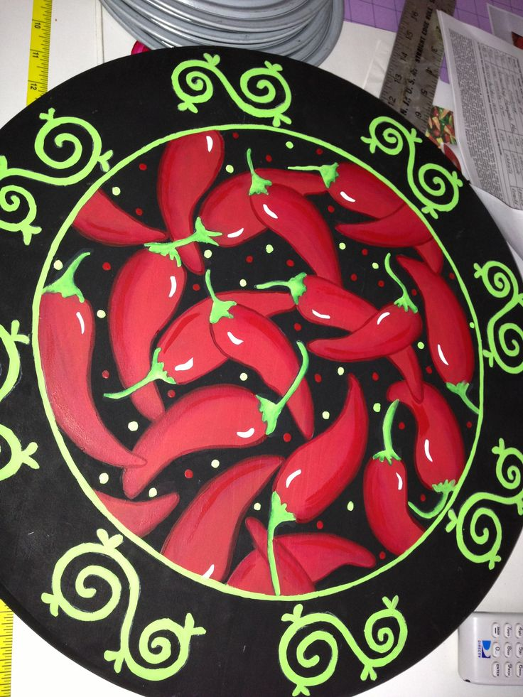 Chili pepper Lazy Susan