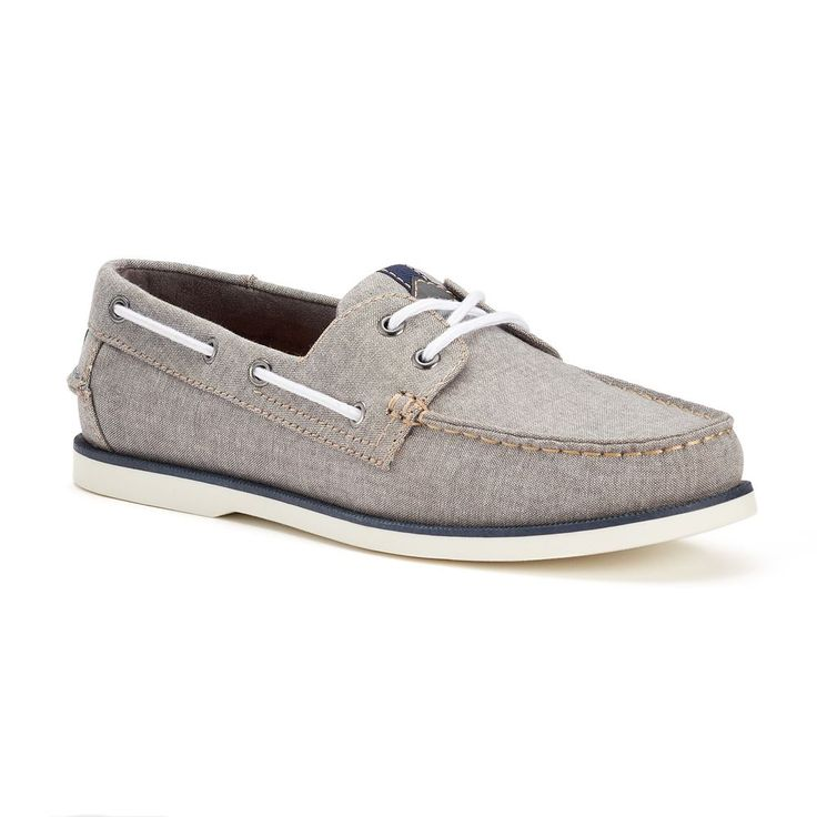 SONOMA Goods for Life™ Men's Lace-Up Boat Shoes, Size: 9.5 Wide, Grey Other
