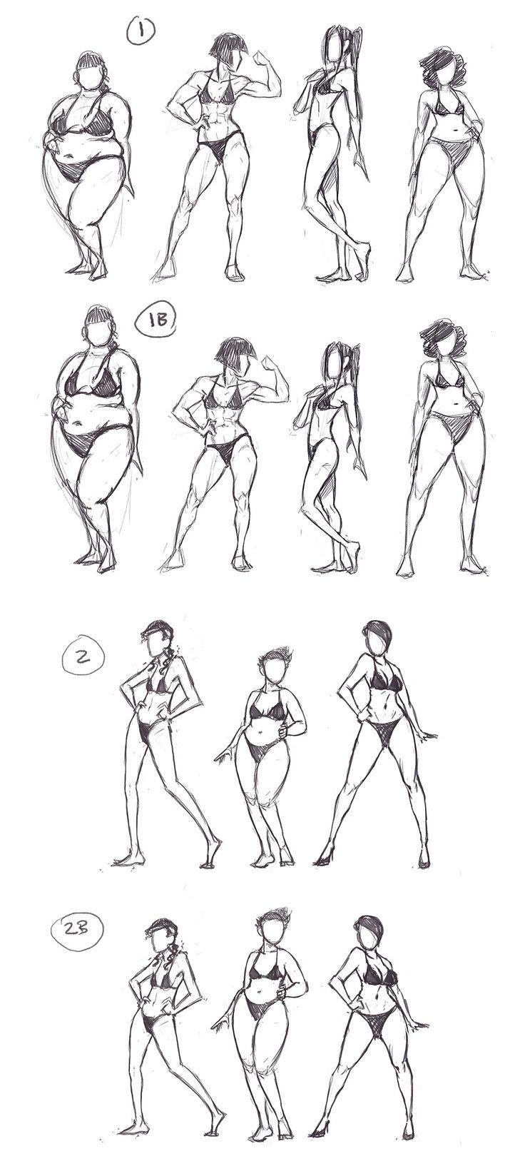 Practicar diverson tipos de cuerpos femeninos son útiles si quieres variedad en tu mundo...