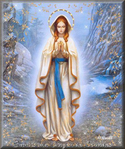 tutto glitter: Madonna di Lourdes