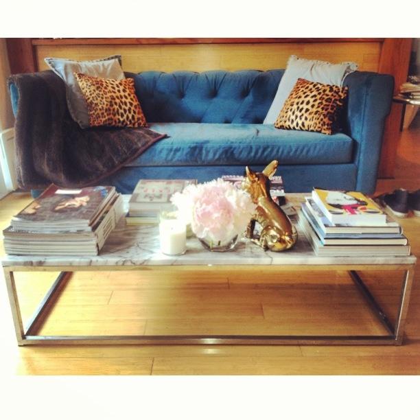 Living Room Revamp, Step One! Hollywood Regency Styled Peacock Velvet  Couch, Leopard
