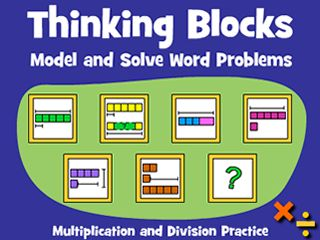 Great to demonstrate Bar/Tape Models! Thinking Blocks | Model and Solve Math Word Problems CC: 5.OA.A.2 5.NBT.B.5