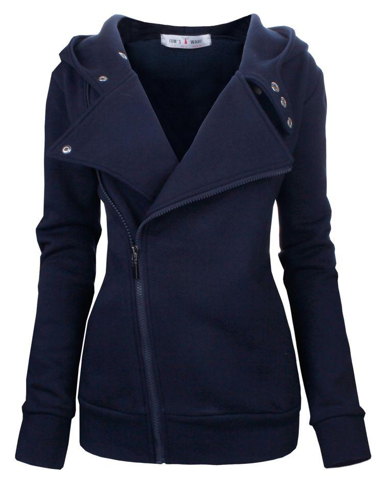 Tom's Ware Women Slim fit Zip-up Hoodie Jacket at Amazon Women's Clothing store: $39.99