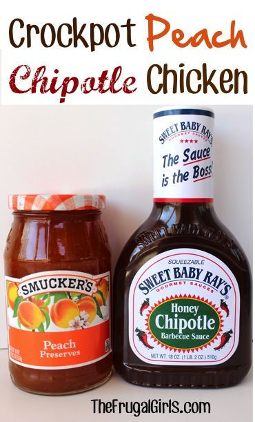 Crockpot Peach Chipotle Chicken Recipe! ~ from TheFrugalGirls.com {just a few ingredients for this simple Slow Cooker dinner ~ it's absolutely delicious, and oh-so-easy!} #slowcooker #recipes #thefrugalgirls