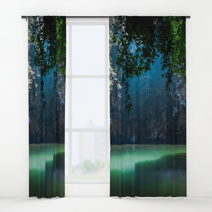 Lagoon Window Curtains by Nicklas Gustafsson. Worldwide shipping available at Society6.com. Just one of millions of high quality products available. #lagoon #jungle #forest #nature #landscape #travel #adventure #curtains #homedecor