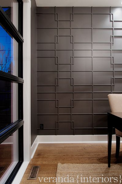 Altadore {one} Study feature wall detail // Veranda Estate Homes #fretwork #wall #study #office