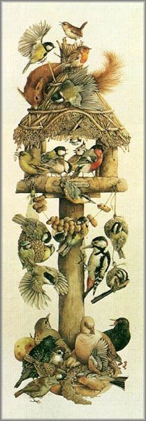 Marjolein Bastin.. I love this, reminds me of my back yard, have all kinds of birds and squirrels feeding there...:)
