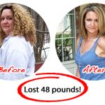A Before And After Photograph Of A Lady Who Has Used Cheap Weight Loss Programs. And Has Lost A Lot Of Weight.