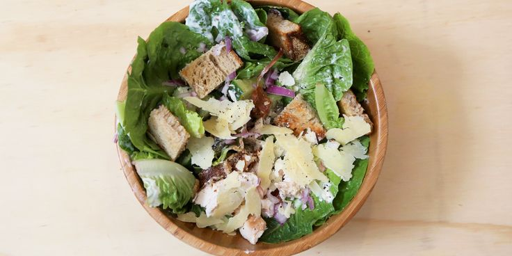 Cheat's Chicken Caesar Salad via @iquitsugar