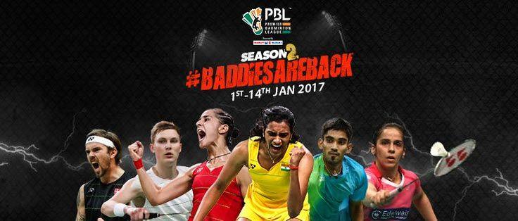 PBL 2: Premier Badminton League 2017 India Schedule | Live Scores