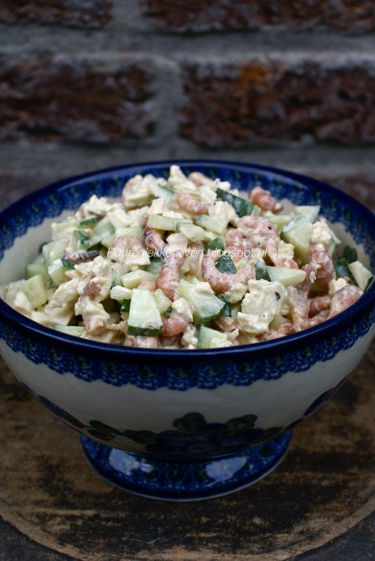 Kip-Garnalen salade #glutenvrij #paleo #suikervrij #lactosevrij #koolhydraatarm #lowcarb
