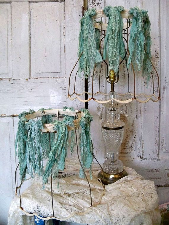 7 best boho chic lampshades images on pinterest lamp shades shabby chic rusty raw lampshades with aqua sea by anitasperodesign 18000 aloadofball Choice Image