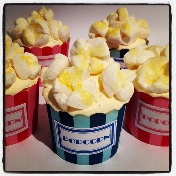 Popcorn cupcakes @ Petit Cakes Perth, Australia...