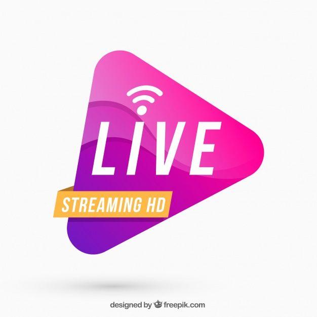 Live Streaming Background Banner Ads Design Live Streaming Graphic Design Logo