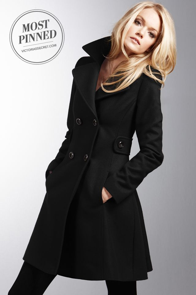 Side tabs and a wide lapel add sophistication to the tailored silhouette of this polished double-breasted coat. l The Wool Side Tab Coat