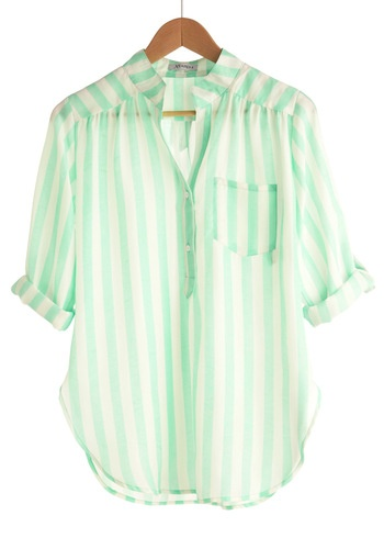 mint stripes, and love that color!!!