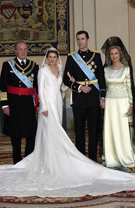 Boda del Principe de Asturias Don Felipe de Borbon con  Letizia Ortiz y  Felipe,22 de Mayo de  2004.