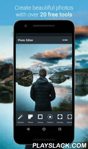 "Photo Editor By Aviary  Android App - playslack.com ,  ""A one-stop shop for any photo editing need."" -Mashable""A very comprehensive photo editor and pretty much everything you could ever want to do on your phone."" -LifeHacker""A solid, simple camera editing app."" -USA Today*********************Aviary is a powerful photo editor which we created because we wanted a quick and easy way to edit our photos on the go with no fuss. We've included all the tools you need, in a super intuitive interface…"
