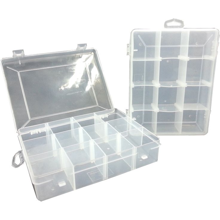 Utility Fishing Tackle Box Small 2 Pack