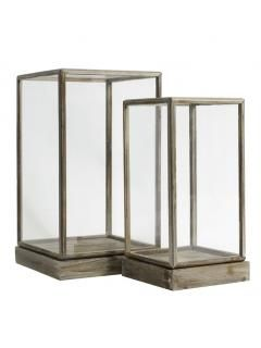 Glass Display Cases - Set of Two