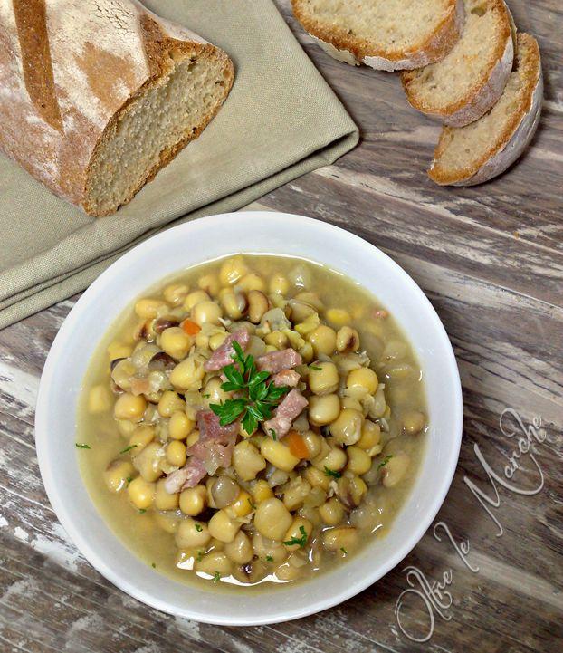 Zuppa di cicerchia con pancetta, ricetta rustica   Oltre le Marche