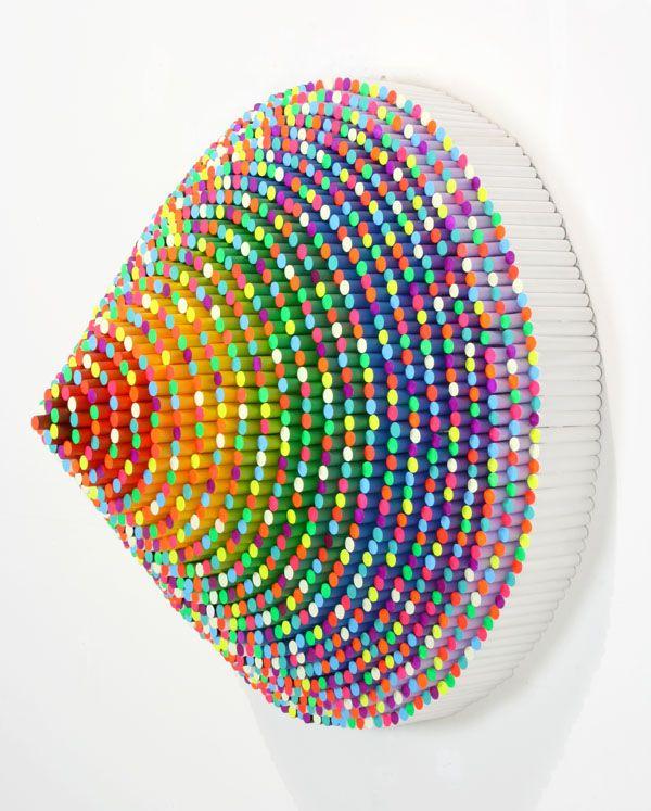 Jen Stark Trinity: Stark Paper, Jenstark, Color, Double Rainbows, Paper Art, Paper Sculpture, Cut Paper, Acrylics Paintings, A Stark