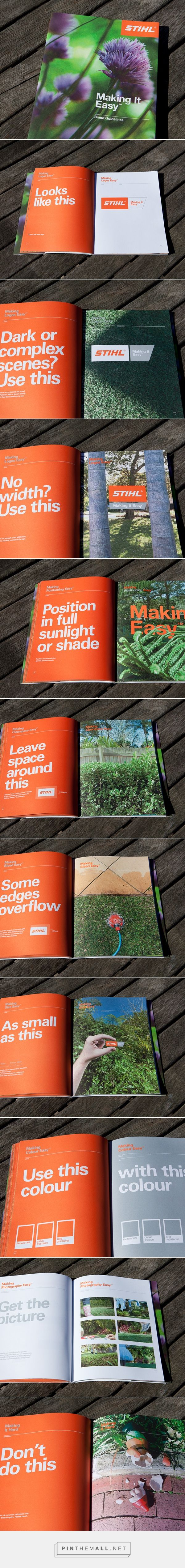 STIHL - Making It Easy Brand Guidelines on Behance - created via http://pinthemall.net