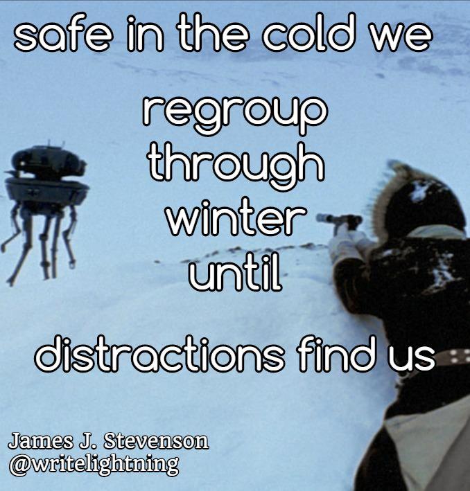 Han Star Wars winter haiku. Poetry by James J. Stevenson. For more: http://writelightning.tumblr.com/ and https://twitter.com/writelightning
