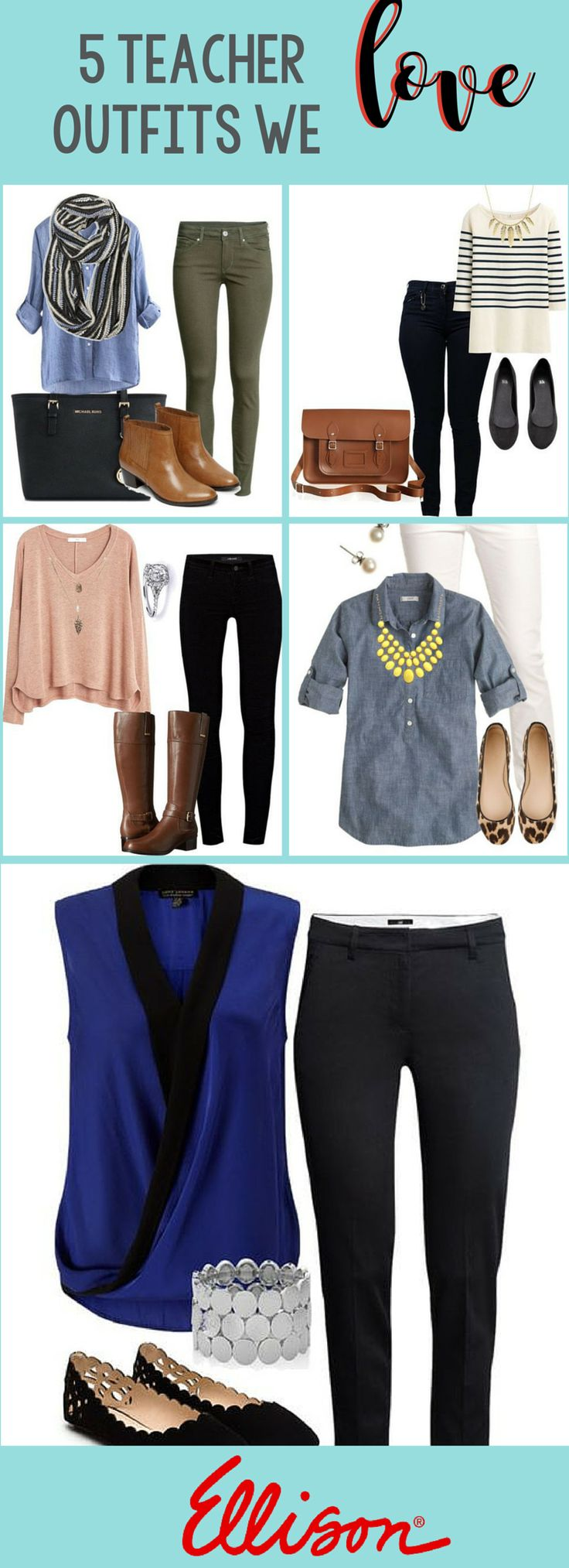 Teacher Outfits we love! We go in depth on some teacher fashion on our blog.