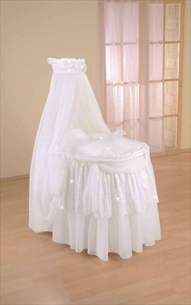 Leipold crib for sale - Leipold Royal Serien Piltre Babykurv P Hjul M Lang Trekk Himmel