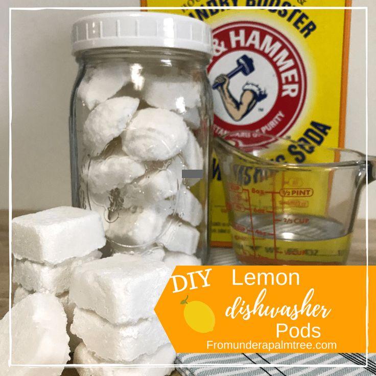 DIY Lemon Dishwasher Pods Dishwasher pods, Homemade