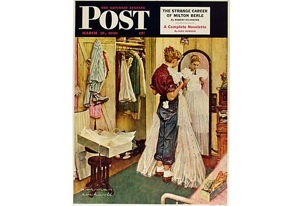 Wouldn't this image make a great bridal shower invite? Norman Rockwell Poster on OneKingsLane.com