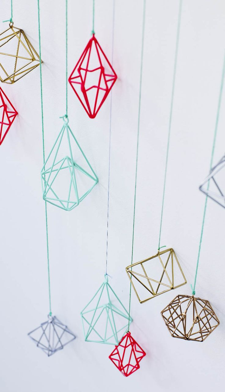 Be quirky and non-traditional this Christmas with our range of brightly coloured geometric diamond decorations! Available now at Oliver Bonas.