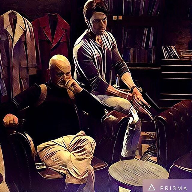 We make an offer u cant refuse!!trust me!! #mp #anupamkher #film #always #happy #style #class #action #comingsoon #baabaaablacksheep